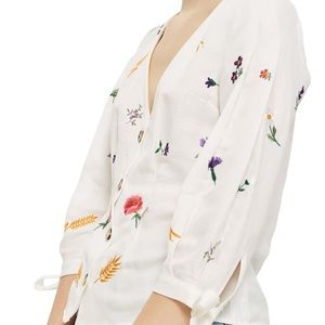 NWT! Topshop floral embroidered top size 8 (M)